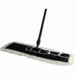 Quickie Mfg 069-4 Dust Mop, 100% Cotton Head, Steel Handle, 24-In.