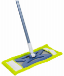 Quickie Mfg 76M Microfiber Hardwood Floor Mop, Reusable Pad, Wet & Dry