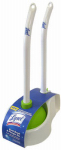 Quickie Mfg 57365 Toilet Bowl Brush with Plunger & Caddy