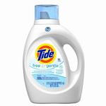 Procter & Gamble 08885 HE Liquid Laundry Detergent, Free & Gentle, 100-oz.