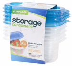 Flp 8061 5PK Rectangle Container/Lid