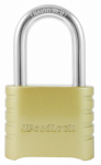 Wordlock PL-106-SS Combination Lock, Brass, 1.5-In. Shackle