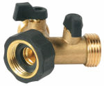 Camco Mfg 20123 RV Y-Valve Water Connector, Brass