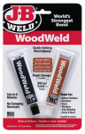 J-B Weld 8251 Quick Setting Wood Epoxy Adhesive, 2-Part, 2-oz.