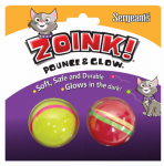 Sergeants Pet Care Prod 07664 Zoink Cat Toy, Glow Ball, 2-Pk.