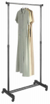 Whitmor 6021-3539 Garment Rack, Adjustable, Ebony & Chrome, 18.25 x 33 x 66-In.