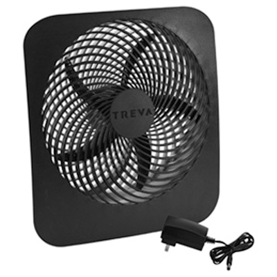 FD10002A Portable Fan, Battery or Electric-Powered, 2-Speed,