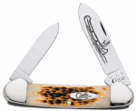 W R Case & Sons Cutlery 00263 Canoe Pocket Knife, Chrome Vanadium/Amber Bone, 3-5/8-In. Length Closed