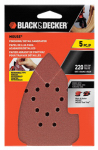 Dewalt Accessories BDAM220 Mouse Finishing Sandpaper, 220-Grit, 5-Pk.