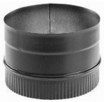 M&G Duravent 6DBK-AD DuraBlack Stove Top Adapter, Black Single-Wall Stainless Steel, 6-In.