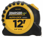 Johnson Level & Tool 1804-0012 Auto-Lock Power Tape Measure, Rubberized Case, 5/8-In. x 12-Ft.