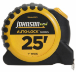 Johnson Level & Tool 1804-0025 Auto-Lock Power Tape Measure, Rubberized Case, 1-In. x 25-Ft.