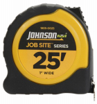 Johnson Level & Tool 1805-0025 Job Site Power Tape Measure, Nylon-Coated Blade/Rubberized Case, 1-In. x 25-Ft.