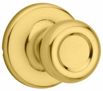 Kwikset 200T 3 6AL RCS Tylo Hall/Closet Knobset, Polished Brass