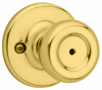 Kwikset 300T 3 6AL RCS KI BBPKG Tylo Bed/Bath Knobset, Polished Brass