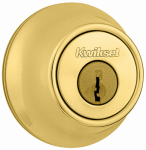 Kwikset 660 3 RCAL RCS Deadbolt Lockset, Polished Brass