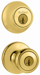 Kwikset 690T 3 6AL RCS Tylo Deadbolt Lockset Combo Pack, 2-Point Locking, Polished Brass