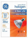 G E Lighting 69168 Halogen Flood Light Bulb, Indoor, Long-Neck, 38-Watt