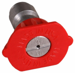 Mi T M AW-0018-0028 High-Pressure Nozzle, 0 Degree, 4.0 Orifice, Red