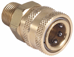 Mi T M AW-0017-0007 Pressure Washer Quick Connect Socket, Brass, 3/8 MNPT x 3/8-In.