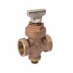 "Homewerks Worldwide 225-2-1-1 1"" Bronze Stop/Drain Valve"