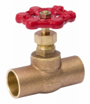"Homewerks Worldwide 230-4-12-12 1/2"" Brass CxC Stop Valve"