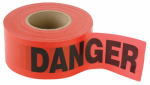 Hanson C H 16003 Danger' Tape, Red Weatherproof Vinyl, 1,000-Ft.