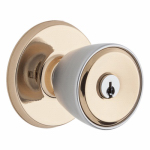 Weiser Lock GAC531 B3 WS 6LR1 Beverly Entry Door Knob, Brass