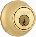 Weiser Lock GDC9471 3 WS RLR2 Single Cylinder Deadbolt, Brass
