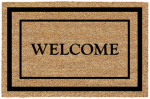 U S Cocoa Mat 31479 Doormat, Outdoor, Welcome Pattern, Natural Coir With Vinyl Back, 18 x 30-In.
