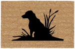 U S Cocoa Mat 31697 Doormat, Outdoor, Lab In Weeds, Cocoa Natural Coir With Vinyl Back, 18 x 30-In.