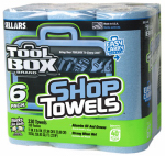 Sellars Wipers & Sorbents 5441602 Blue Shop Towels, 6-Roll Pack