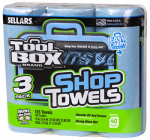 Sellars Wipers & Sorbents 5448301 Blue Shop Towels, 3-Roll Pack