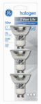 G E Lighting 81662 Floodlight, Indoor, Halogen, 50-Watt, 3-Pk.