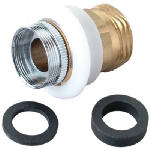 Brass Craft Service Parts SF0078X Faucet Adaptor, Female, Chrome-Plated Brass & White Plastic, 55/64-In. x 27