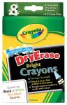 Crayola 98-5200 Dry Erase Crayons, Washable, Large, 8-Pk.