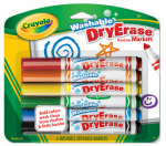 Crayola 98-5806 Dry Erase Markers, Broad Line, Washable, 6-Pk.