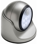 Fulcrum Products 20031-101 LED Porch Light, Wireless, Motion-Activated, Silver