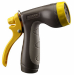 Fiskars Garden Watering 50106 Hose Nozzle, Rear Trigger, 5 Patterns, Soft Grip