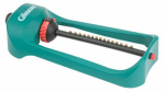 Fiskars Garden Watering 7800PS Oscillator Sprinkler, 3,000-Sq. Ft. Coverage, Extra-Wide Base, Polymer
