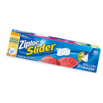 S C Johnson Wax 02313 Slider Freezer Bags, Gal., 10-Ct.