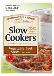 Kent Precision Foods Group L365-DB842 Slow Cookers Vegetable Beef Stew Mix, 2.5-oz.