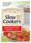Kent Precision Foods Group L368-DB842 Slow Cookers Southwest Style Chicken Mix, 2.5-oz.