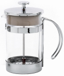 Norpro 5574 French Press Coffee Maker, Glass & Chrome, 25-oz.