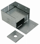 Simpson Strong Tie ABW44Z Adjustable Post Base, 1-In. Stand Off Ht.,16-Gauge Steel, 4 x 4-In.