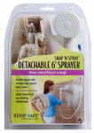 Idea Factory 4175 Snap 'N Spray Shower Sprayer, Detachable 6-Ft. Hose