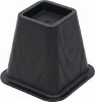 Shepherd Hdwe Prod 9523 Bed Riser, Molded Black, 6-1/8-In., 4-Pk.