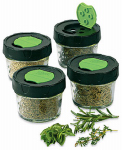 Jarden Home Brands 1440010744 Dry Herb Jars, 4-oz., 4-Pk.
