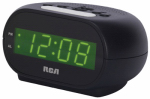 Audiovox RCD20 Streamlined Alarm Clock, Green LED