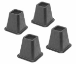 Whitmor 6511-3349-BLK 4-Pk. Bed Risers, Black, 5-1/4-In.